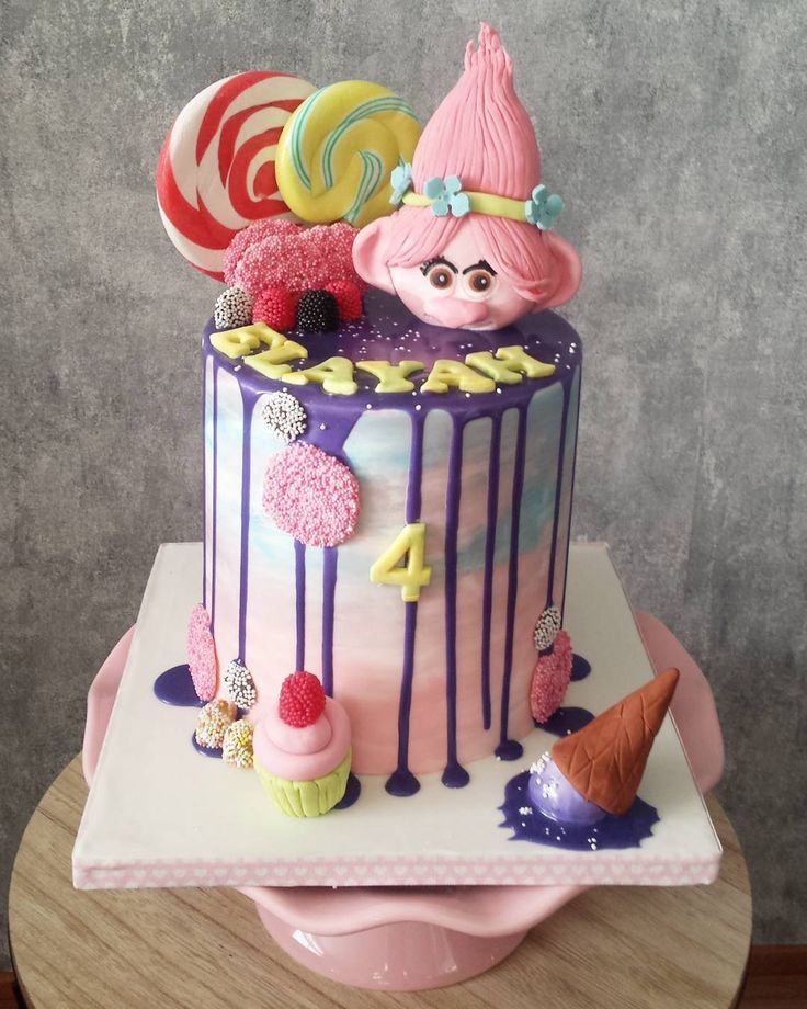 Marble drip cake