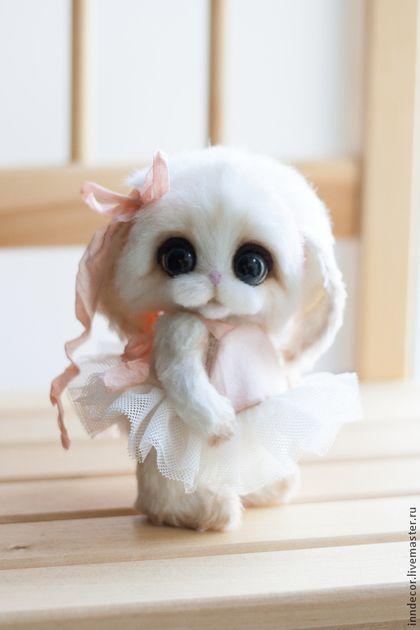 Зайка Неженка - белый,зайка тедди,тедди,игрушка ручной работы,игрушка