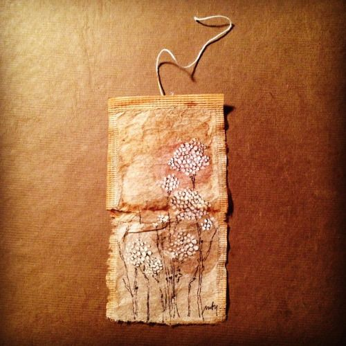 ink made from teabags Tea bag stamped focal point i've had these pieces of empty used tea bags on my desk most of the i was laughing cos yesterday i made.