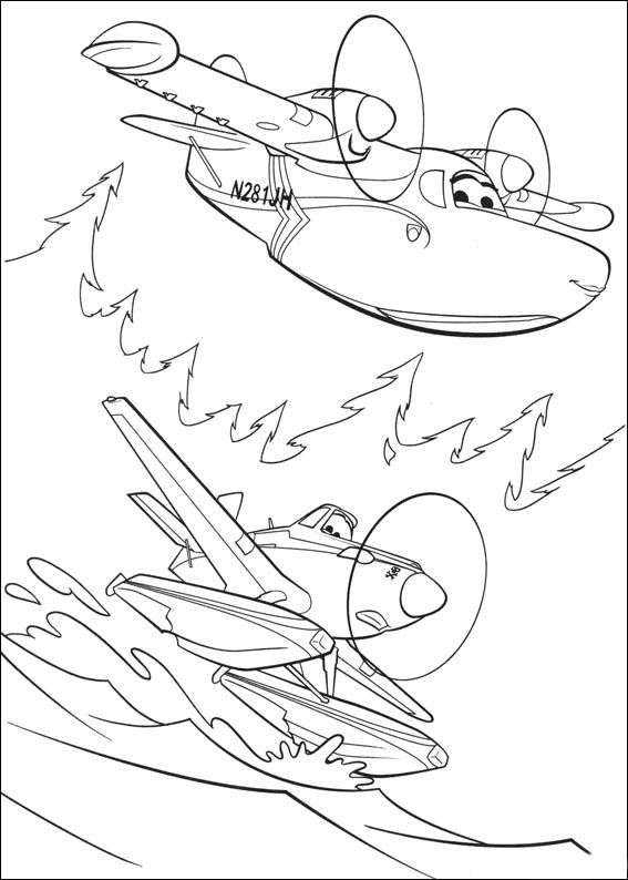 Desenhos para pintar Aviões 63
