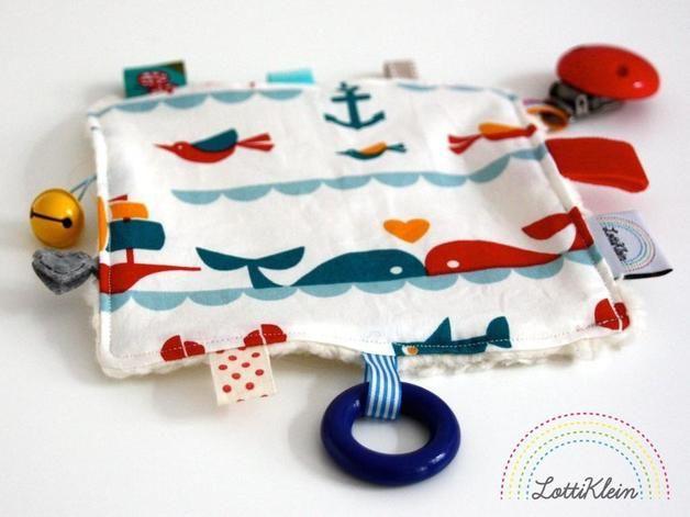 Knistertücher - Knistertuch Schmusetuch Knisterkissen - ein Designerstück von LottiKlein bei DaWanda