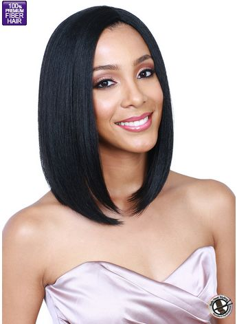 Bobbi Boss Weave A Wig MWWS14 GINA Color1B Synthetic Weave & Wig Bob Heat safe up to 380ºF Simple weave & secure wig - Enjoy the best of weave & w