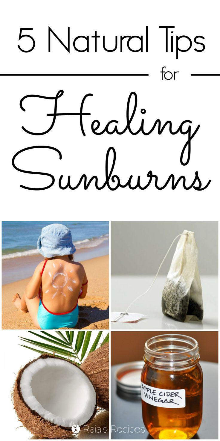 5 Natural Tips for Healing Sunburn | RaiasRecipes.com- Awesome Life Friday #25