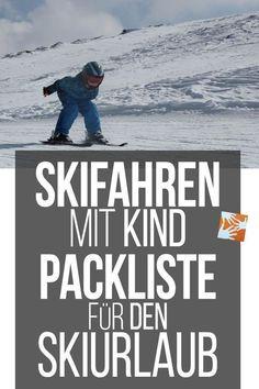 Skifahren mit Kind: Packliste für den Skiurlaub