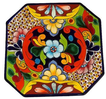 Talavera Octagonal Plate