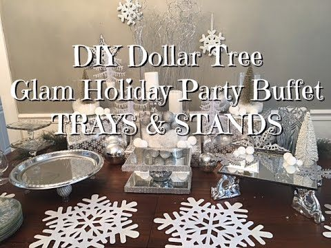 Diy Dollar Tree Glam New Years Buffet Trays Amp Stands