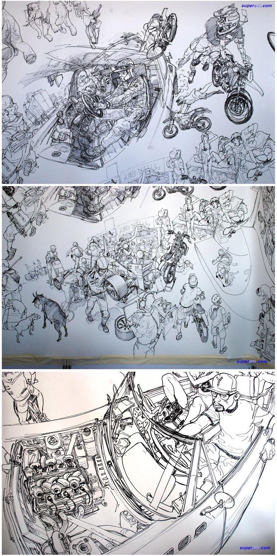 金政基/Kim Jung-Gi. Amazing artist. Go watch him on YouTube!!!