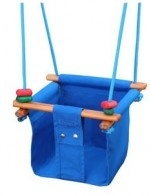 This indoor and outdoor Solvej baby and toddler swing is bucket loads of fun, but also assists in developing eye focus, balance, motor skills and coordination. Weeeeeeee!