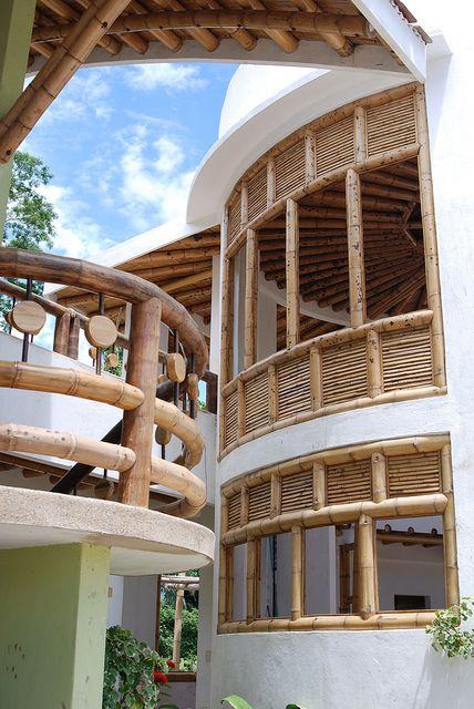 Guadua Bambú Detalles ventanas y barandas casa by carolinazuarq, via Flickr
