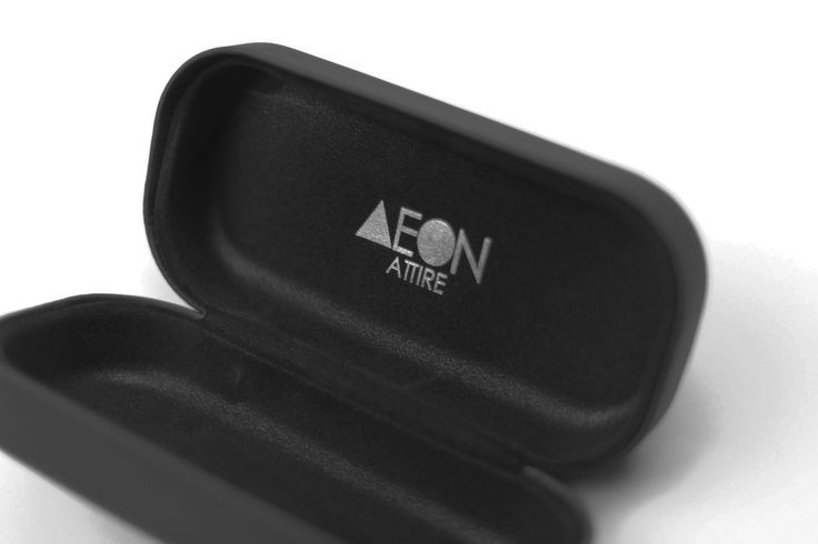 The AEON Attire matte black case. Comes with every single pair of AEON Sunglasses you purchase and comes with a premium cleaning wipe. The AEON Sunnies: $95.00