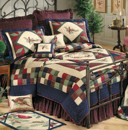 find this pin and more on cabin bedding by