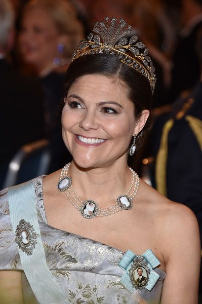 Princess Victoria Photos Photos - Crown Princess Victoria of Sweden attends the Nobel Prize Banquet 2015 at City Hall on December 10, 2016 in Stockholm, Sweden. - Nobel Prize Banquet 2016, Stockholm