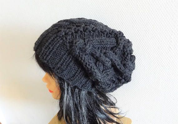 Unisex Big Baggy Hat Winter Adult Teen Fashion Chunky Knit