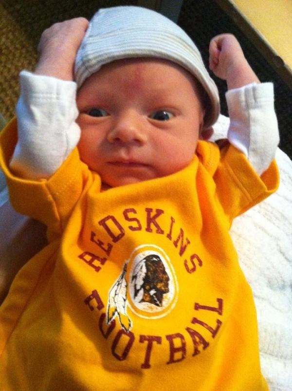 One of the youngest #Redskins fans! Sent in by Hayley.