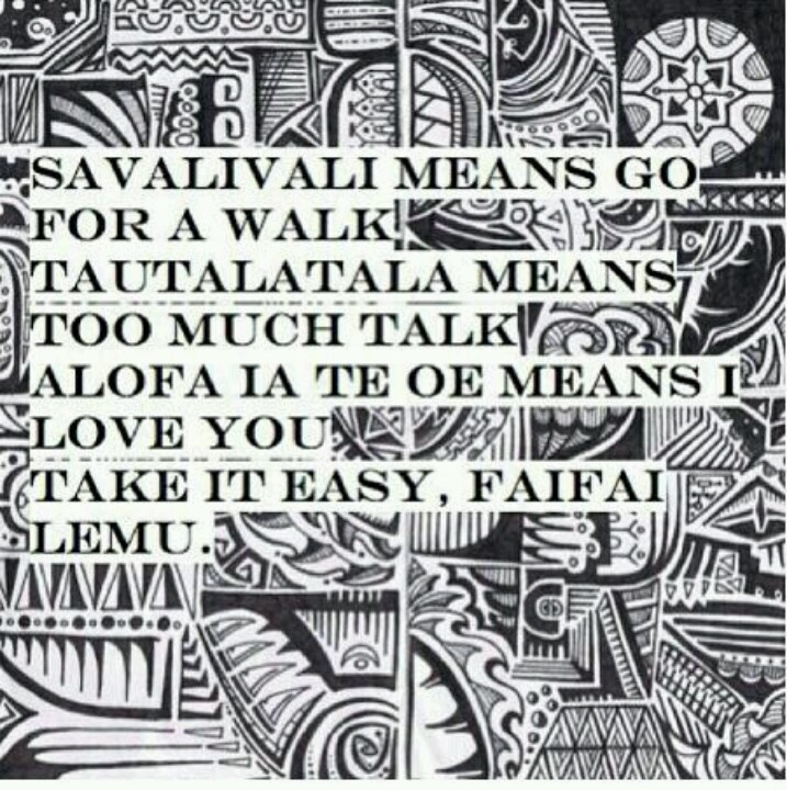 All Samoans know this song - I taught this to Kira as a little girl.
