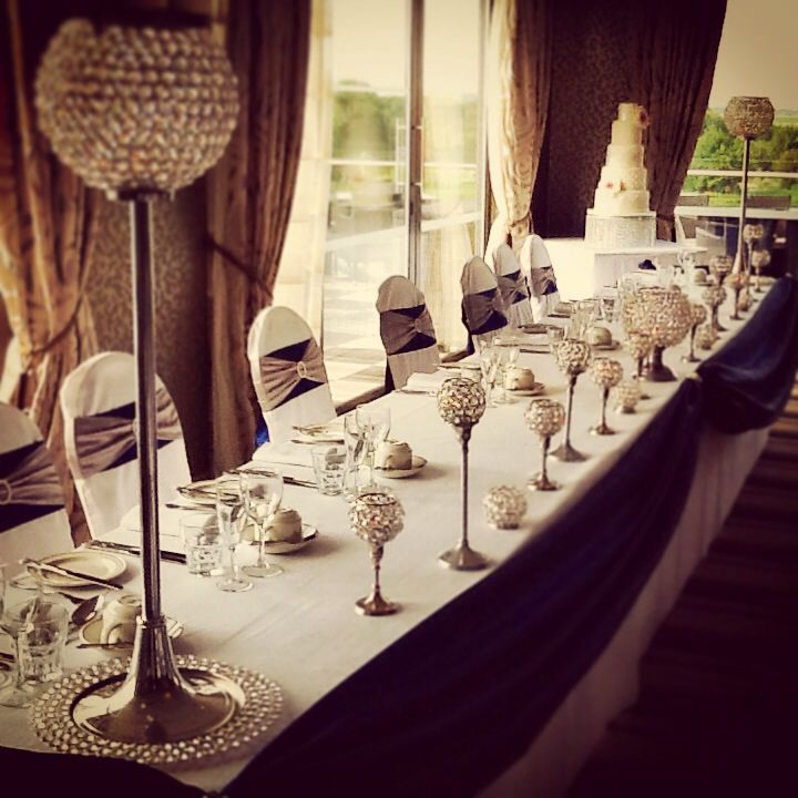 Crystals and candles for the top table #weddingopenday