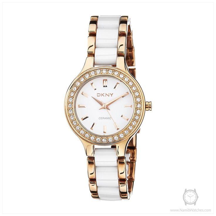 Dkny damen armbanduhr xs analog quarz keramik ny4887