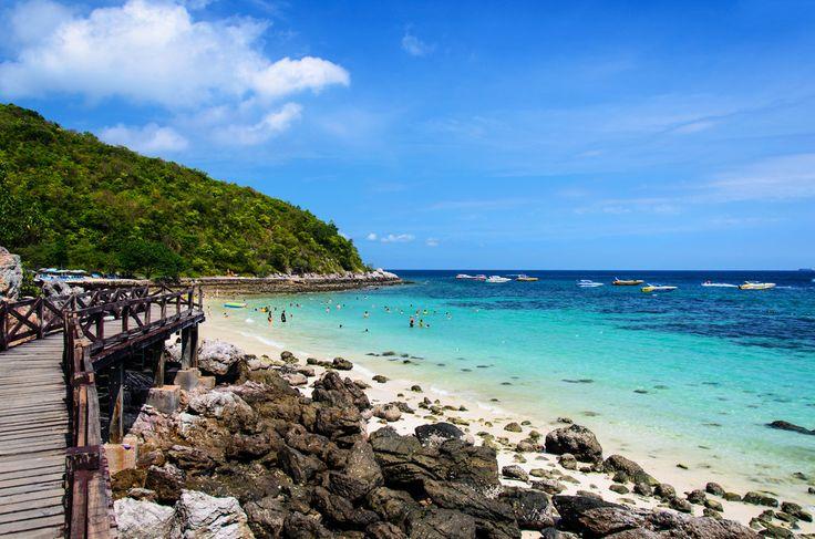 Sangwan Beach is one in beautiful beaches of Koh Larn in Chonburi, Thailand #Beaches