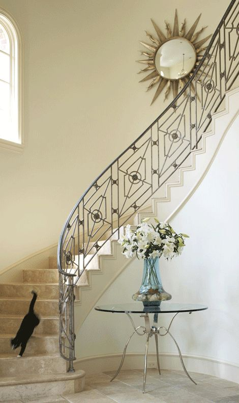 Art deco inspiration for railing designer mary anne smiley via donna 39 s blog a designer 39 s - Ideeen deco trappen ...