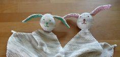 Strickanleitung für Baby Schmusetuch Hase