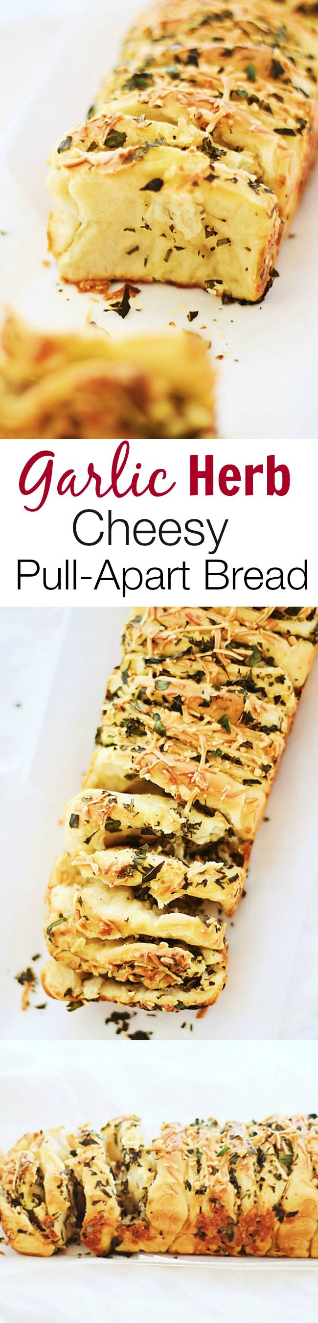 HOLIDAY BOARD: Garlic Herb and Cheese Pull Apart Bread - Rasa Mal...