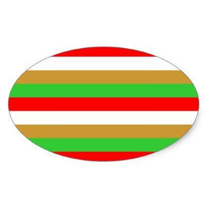Tajikistan flag stripes oval sticker - patterns pattern special unique design gift idea diy