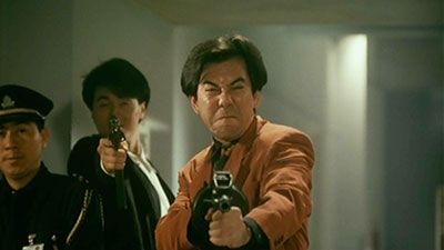 The great Anthony Wong in John Woo's Hardboiled