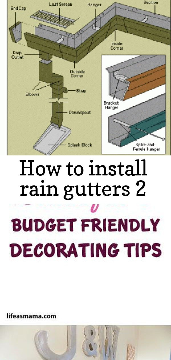 Diy Tips For Vinyl Steel And Aluminum Gutter Installation Including Taking Measurements 15 Beautif How To Install Gutters Budget Friendly Decor Installation