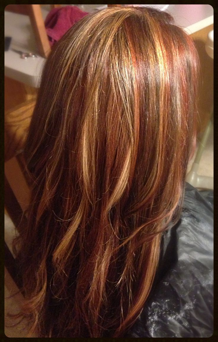Blonde Red Brown Foils Loooove Loooove It My New Hair