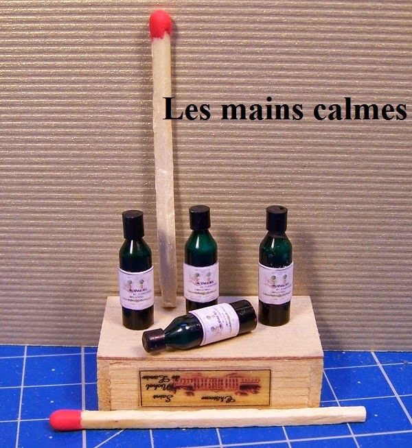 calm hands: Make small wine bottles how to