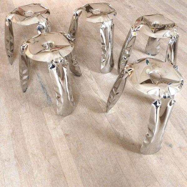 Oskar Zieta's Plopp stools formed part of the original 2009 exhibition.