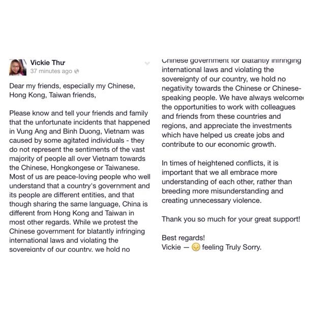 An #apology #letter We - #Vietnamese #love #peace, #appreciate and - apology letter