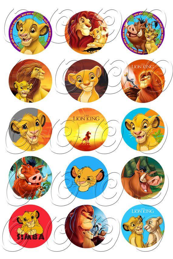 15 Lion King Simba Birthday Cupcake Cake Cookie Edible Uncut Topper Image Decoration Decal Wafer Sheet 0079