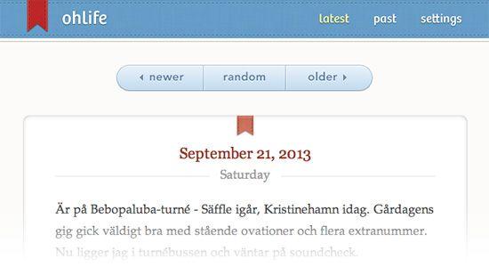 Skriv dagbok online med OhLife