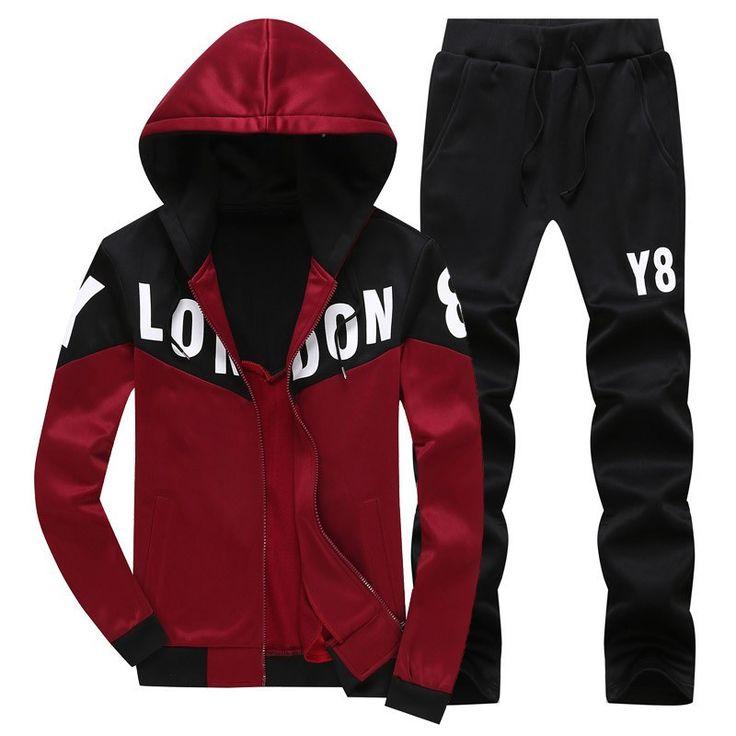 Mens Sweat Suits 2016 Autumn Brand Mens Tracksuits Sets Jogger Jacket + Pants Sporting Suit Hip Hop Sweatshirts Sudaderas Hombre