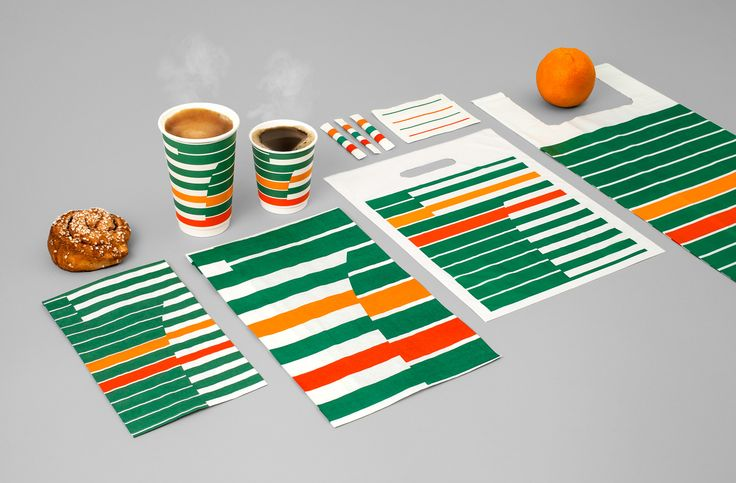 7-Eleven decided to update their coffee concept for the Swedish market and emphasize a smart and convenient brand experience. The iconic stripes is the take-off point of our design. Modern and clear branding.