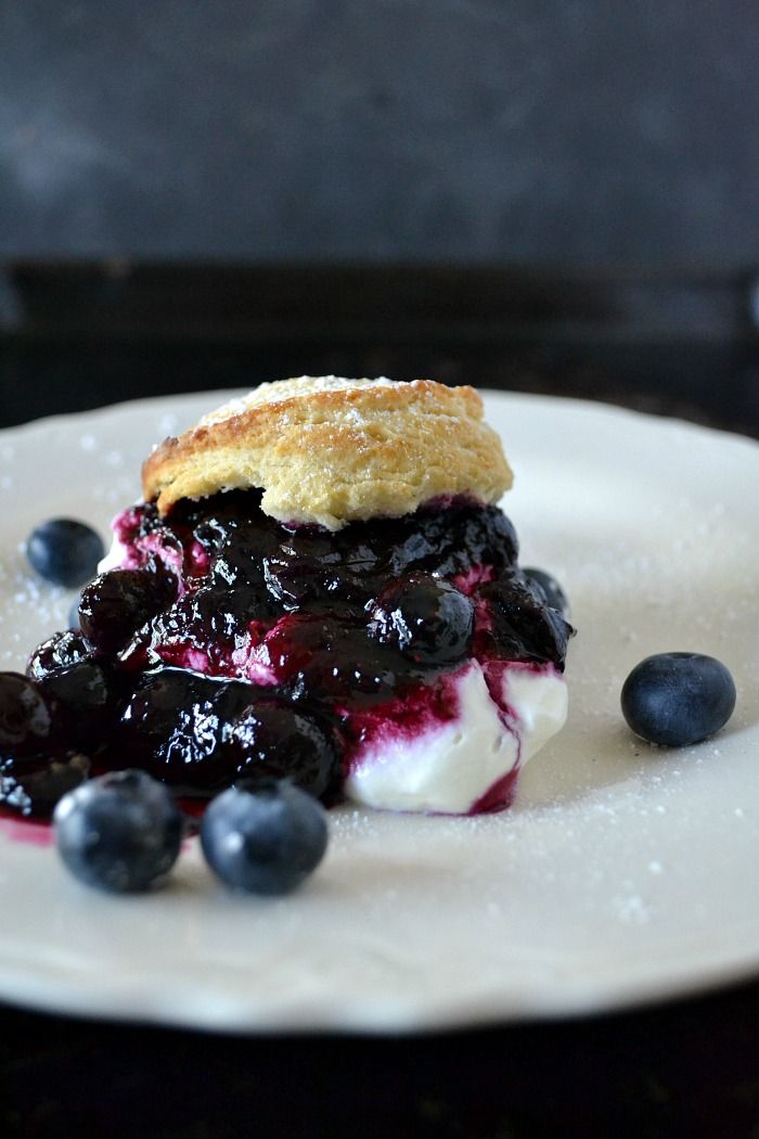 This easy blueberry shortcake recipe is really easy and yields a delicious summer dessert. Plump juicy blueberries, fresh baked shortcakes and whipped cream