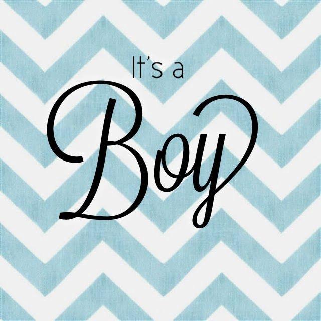 It's A Boy announcement - blue chevron