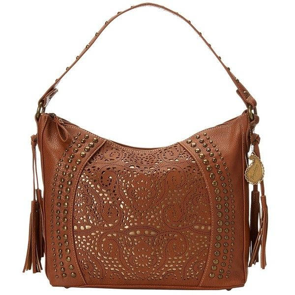 American West Mesa Slouch Hobo Shoulder Bag (Tan/Gold) Shoulder... ($79) ❤ liked on Polyvore featuring bags, handbags, shoulder bags, slouchy hobo handbag, tan shoulder bag, shoulder strap handbags, hobo shoulder bags and white shoulder bag