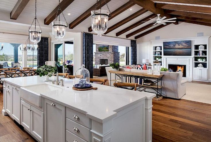 interior wonderful open floor plan kitchen dining living room | Open Concept Kitchen Ideas with Practical Design ...