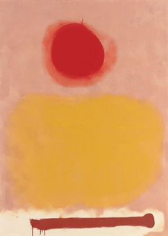 """""""Amorphous"""" Adolph Gottlieb was an American abstract expressionist painter, sculptor and graphic artist. Gottlieb was a masterful colorist as well and in the Burst series his use of color is particularly crucial. He is considered one of the first color field painters and is one of the forerunners of Lyrical Abstraction. Gottlieb's career was marked by the evolution of space and universality."""