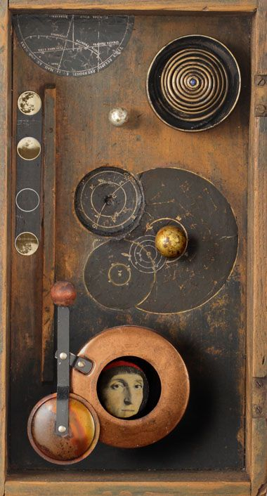 ⌼ Artistic Assemblages ⌼ Mixed Media, Journal, Shadow Box, Small Sculpture Collage Art - Kass Copland | Space Dreamer