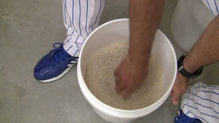 Baseball Rice Bucket Exercises For Pitchers (Episode #002)
