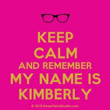 Kimmy Name Red Letters
