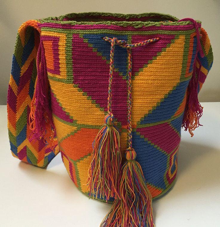 Wayuu Bag Mochila Hand Woven - Ship Worldwide #362 by PurpleCatStore on Etsy