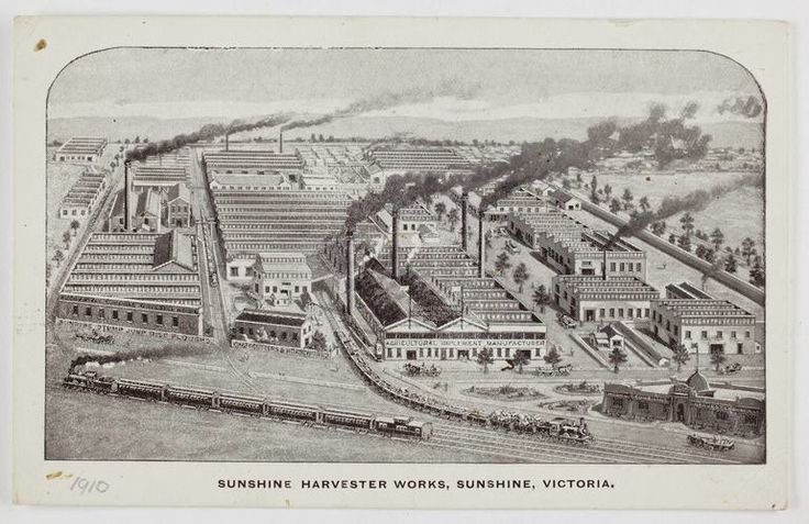 Postcard - Sunshine Harvester Works, 1910