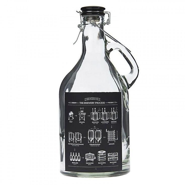 Μαυροπίνακας Μπουκάλι Γυλαλινο Με Καπάκι 13Χ29εκ