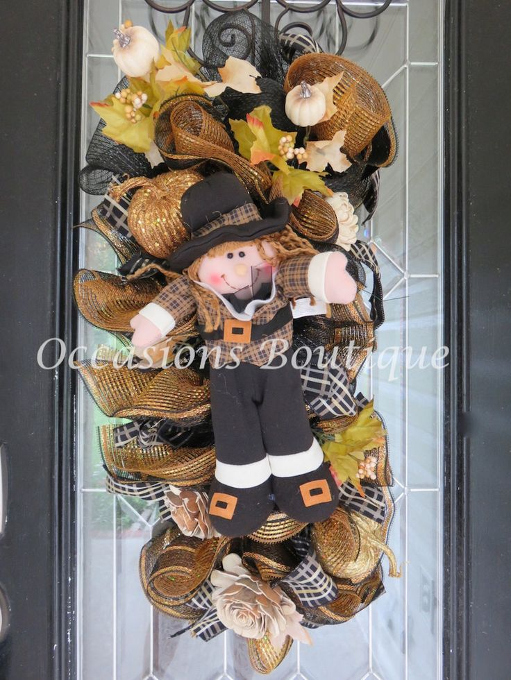 Fall Wreath, Fall Door Swag, Autumn Wreaths, Front door Wreath, Thanksgiving Decoration, Whimsical Wreath by OccasionsBoutique on Etsy