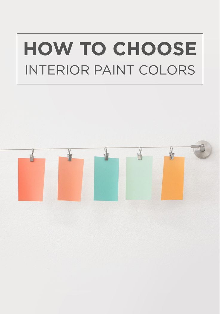 Take the guesswork out of your home makeover with this How to select colors for house interior