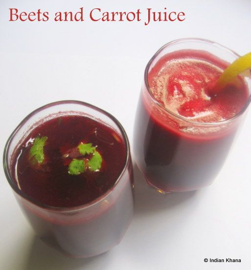 Beets and Carrot Juice